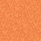 Vector seamless pattern with hearts. Stock Images