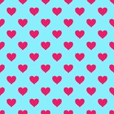 Vector seamless pattern with hearts Stock Photos