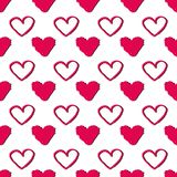 Vector seamless pattern with hearts. Abstract background for Valentine`s Day. Vector seamless pattern with hearts. Abstract background for Valentine`s Day royalty free illustration