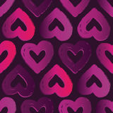 Vector seamless pattern with hearts. Abstract background for Valentine`s Day. Stock Photo