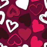 Vector seamless pattern with hearts. Abstract background for Valentine`s Day. Royalty Free Stock Photo
