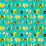 Vector seamless pattern with hearts Royalty Free Stock Photography