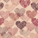 Vector Seamless Pattern with Hearts Royalty Free Stock Image
