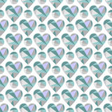 Vector seamless pattern with hearts. Polygonal design. Geometric triangular origami style, graphic illustration. Series of Love Seamless Patterns Stock Photography
