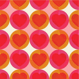 Vector seamless pattern with hearts. Royalty Free Stock Photo