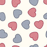 Vector seamless pattern with hearts. Romantic decorative graphic background Valentines Day's, wedding, Christmas. Simple drawing ornamental illustration for Stock Photography