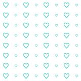 Vector seamless pattern of hearts, simple and clean stock illustration