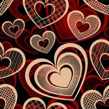 Vector Seamless Pattern with Hearts Stock Photo