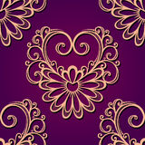 Vector Seamless Pattern with Hearts Royalty Free Stock Photos
