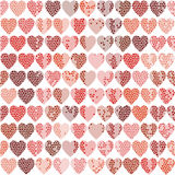 Vector seamless pattern with hearts on a white background Royalty Free Stock Photos
