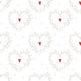 Vector seamless pattern with hearts and wreathes Royalty Free Stock Photography