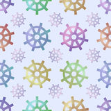 Vector seamless pattern with helms Royalty Free Stock Photos