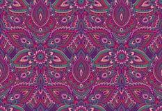Henna Mehndi Vector : Seamless colorful indian pattern. henna tattoo background. stock