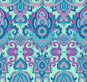 Vector seamless pattern with henna mehndi floral elements. Royalty Free Stock Photography