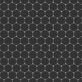 Vector seamless pattern of hexagons with rounded corners. Modern stylish texture. Repeating geometric tiles with thin hexagonal gr. Id. Contemporary graphic vector illustration