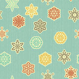 Vector Seamless pattern with  Highly Detailed Paper Cut Snowflak Stock Photography