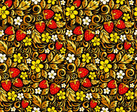 Vector seamless pattern in Hohloma style Stock Photo