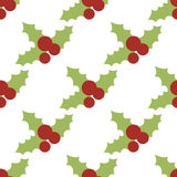 Vector seamless pattern with holly berries Stock Photo