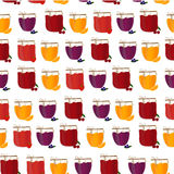 Vector seamless pattern with homemade jam. Friut Royalty Free Stock Photos