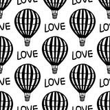 Vector Seamless Pattern Hot Air Balloon royalty free stock images