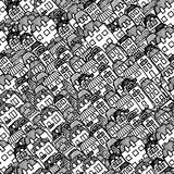Vector seamless pattern - houses and real estate Royalty Free Stock Images