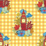 I love London and tea time. Design for background and wallpaper. Vector seamless pattern. I love London and tea time. Design for background and wallpaper vector illustration