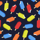 Vector seamless pattern with ice creams. Royalty Free Stock Photo