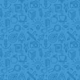 Vector seamless pattern with icons Stock Photo