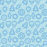 Vector seamless pattern with icons and signs Royalty Free Stock Photo
