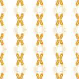 Vector seamless pattern illustration ears of wheat. Malt beer background. Autumn harvest. royalty free illustration