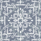 Vector seamless pattern imitating lace Stock Image