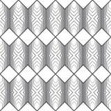 Vector seamless pattern. Infinitely repeating modern geometrical texture consisting of hexagons, rhombuses, diamonds. Thin line. Trendy design Stock Photo
