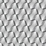 Vector seamless pattern. Infinitely repeating modern geometrical texture consisting of linear hexagons, cubes. Thin line. Trendy design Stock Photography
