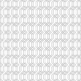 Vector seamless pattern. Infinitely repeating modern geometrical texture consisting of linear hexagons, rhombuses, zigzag lines. Thin line. Trendy design Stock Photos