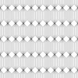 Vector seamless pattern. Infinitely repeating modern geometrical texture consisting of with striped hexagons and rhombuses Royalty Free Stock Photography