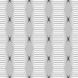 Vector seamless pattern. Infinitely repeating modern geometrical texture consisting of thin lines which form hexagonal linear grid with striped hexagons Royalty Free Stock Photos