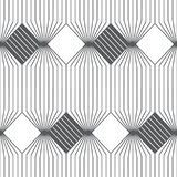 Vector seamless pattern. Infinitely repeating modern geometrical texture consisting of thin lines which form hexagonal linear grid with striped hexagons and Stock Images