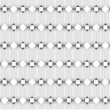 Vector seamless pattern. Infinitely repeating modern geometrical texture consisting of thin lines which form hexagonal linear grid with striped hexagons Royalty Free Stock Images