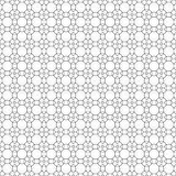 Vector seamless pattern. Infinitely repeating simple elegant texture consisting of outline hexagons, squares, triangles, rhombuses. Geometrical cover surface Royalty Free Stock Image