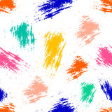 Vector seamless pattern with ink blots and brush strokes. Royalty Free Stock Images