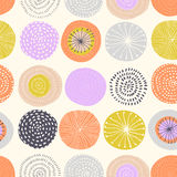 Vector seamless pattern with ink circle textures. royalty free illustration