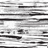 Vector seamless pattern with ink stripes and strokes Stock Photography