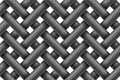 Vector seamless pattern of intersecting fabric braided cords. Stock Image