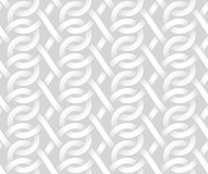 Vector seamless pattern of intertwine bands. White texture. Royalty Free Stock Images
