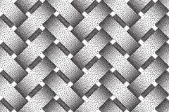 Vector seamless pattern of interweaving bars. Stipple texture. Vector seamless decorative pattern of interweaving bars. Stipple texture Royalty Free Stock Photos