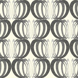 Vector seamless pattern with interweaving of circles. Royalty Free Stock Photo
