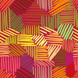 Vector seamless pattern with interweaving of lines. Royalty Free Stock Photos