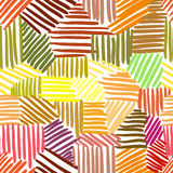 Vector seamless pattern with interweaving of lines. Stock Images