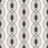Vector seamless pattern of interwoven lines Stock Photo