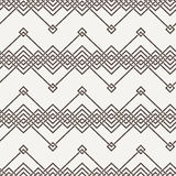 Vector seamless pattern of interwoven lines Royalty Free Stock Images